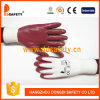 Ddsafety 2017 White Nylon Orange Nitrile Gloves