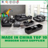Stylish Furniture Modern Office Leather Sofa with Wooden Frame