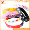 Customized Personalized Printed Logo Silicone Wristband for Events (YB-SM-01)