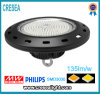 UFO LED High Bay Lamp with 135lm/W Black Case CRI80 and 3030SMD Nichia or Philips Chip