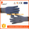Ddsafety 2017 Grey Cotton/Polyester Liner Glove with Blue PVC Dots