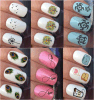 Fashionable Cute Temporary Water Transfer Nail Sticker