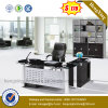 Hot Sell Fashion Office Furniture Glass Top Office Desk (NS-ND134)