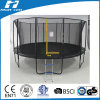 14FT Black Colour Round Trampoline with Safety Net Inside