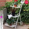 Vintage Metal 3-Tier Garden Flower Planter Stand