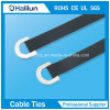 D Type Stainless Steel Polyester Coated Cable Tie for Bundling Wires