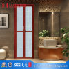 Popular Design Tempered Glass Bathroom Bi-Folding Door