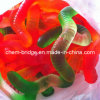 Halal Sugar Coated Worm Shape Gummy Candy