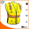 Class 2 Breathable Mesh Reflective Safety Vest with Heavy Duty Zipper