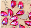 Light Siam Ab Teardrop Sew on Stones Beads