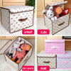 Storage Boxes with Cover, Fabric Covered Storage with Lids