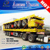 Tri-Axle 20-40FT 40-60ton High-Bed Platform Truck Flatbed Container Semi Trailer