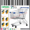 Zinc Plated Shopping Trolley Cart for Supermarket