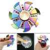 Rainbow Fingertip Gyro EDC Hand Spinner Fidget Toy Decompression Anxiety Finger Toys Rainbow Hot Wheels Aluminum Hand Spinner