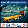 Cimc Huajun 3axle Skeleton Container Semi-Trailer with Floor