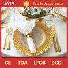 Personalized Round 33cm Gold Braided Glass Charger Plate