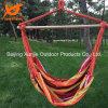 Deluxe Hammock Rope Chair Porch Yard Tree Hanging Air Swing Outdoor Orange Stripe