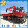 Dongfeng LHD 6 Wheels Truck Mounted with 5 T Crane for Sale
