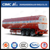 Cimc Huajun Carbon Steel 3axle Liquid Tanker with Heating Device