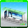 Customized Advertising Outdoor Bus Stop Shelter with Light Box Display