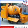 Pully Manufacture Hot Selling Original Rexroth Main Pump Movable Diesel/ Electric Concrete Pump with Drum Mixer (JBT40-P)