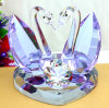 Purple Crystal Glass Swan for Wedding Gifts