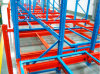 Push Back Heavy Duty Steel Roller Storage Gravity Rack