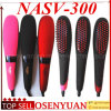 Digital Electric Hair Straightener Brush LCD Display Nasv Iron Fast Hair Straightener Comb Tourmaline Ceramic Ionic Straighting