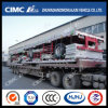 Cimc Huajun 1axle Flatbed Semi Trailer with Side Wall