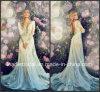 Sheer Bodice Wedding Ball Gown Lace Full Sleeves Bridal Wedding Dress L26312