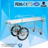 Big Wheel Stainless Steel Patient Trolley