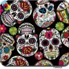 Tsautop 2017 Newest Sugar Skull Wall Hydrographic Film 100cm