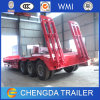 Equipment Transport Tri Axles 60ton Lowboy Semi Trailer