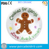 Gingerbread Man Painted Decorative Santa Cookie Plate