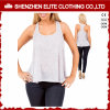 Wholesale Cheap Ladies Fashion Sexy Plain White Burnout Tank Top (ELTWBJ-346)