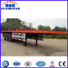 3 Axle Container Chassis or Container Flatbed Truck Semi Trailer