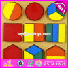 2017 New Design Preschool Geometry Puzzle Wooden Toddler Montessori Toys W12f008