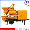 Pully Manufacture New Condition Kawasaki Main Pump Simens Motor Trailer Concrete Pump with Mixer (JBT40-L)