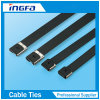 Epoxy Coated Stainless Steel Panduit Cable Ties with Strong Buckles
