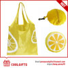 190t Polyester Lemon Folding Shopping Bag for Supermarket