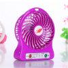Portable Rechargeable Mini Fan with LED Light Battery USB Fan