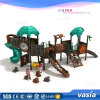 Children Outdoor Playground Tube Slides Forest Theme
