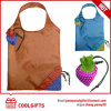 Colorful Foldable 190t Polyester Strawberry Bag for Promotional Gift