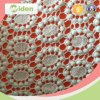 Printed Cotton Drill Fabric POM POM Lace Chemical Lace Fabric
