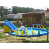Inflatable Water Park with Pool and Slide