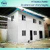 Flat Roof Prefabricated Building in Workshop