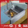 Stainless Steel Apron Fornt Radius Double Bowl Handmade Kitchen Sink