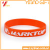 Cheap Custom Solid Emboss Silicone Bracelet/Wristband (YB-AB-007)