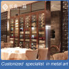 Customized Stainless Steel Rose Gold Wine Cellar Cabinet for Restaurant/Bar