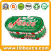 Oval Shape Christmas Tins for Gift Tin Box, Tin Cans